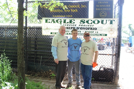 Bay Ridge Scout helps improve 68th Precinct Youth Council Baseball Field | Connect Eagle Scouts To Your Unit, District or Council Committee | Scoop.it