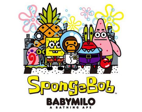 A BATHING APE x SpongeBob SquarePants Capsule Collection • EQUNIU   Street Fashion   Scoop.it