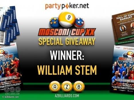 William Stern Wins Gold Member Mosconi Tickets | Pool & Billiards | Scoop.it