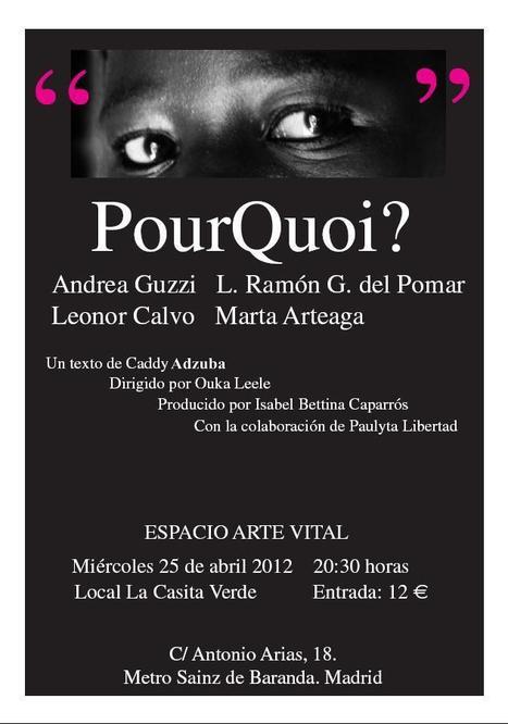 ANDREA GUZZI, Interpretación de Pourquoi?, dirección BÁRBARA ALLENDE, Miércoles 25 de abril, 20:30 h., Madrid. | MARATÓN DE CITAS | Scoop.it