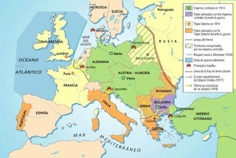 Escenarios y fases del conflicto en Kalipedia.com | La Primera Guerra Mundial 1914-1918 | Scoop.it