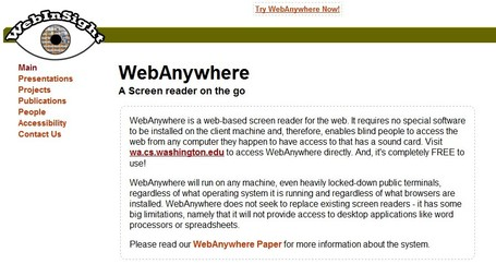 Web Anywhere is a non-visual interface, a screen reader | Källkritk | Scoop.it