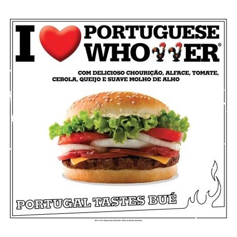 ..:: Maria João de Almeida ::.. Burger King com hamburguer português | Foodies | Scoop.it