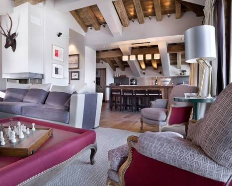 Le charme d'un chalet à Courchevel 1850 - Frenchy Fancy | Décoration d'intérieurs | Scoop.it