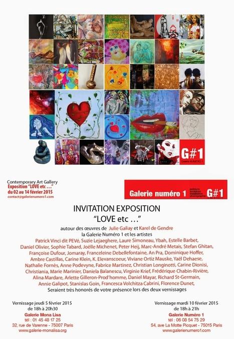 j-3 vernissage expo LOVE etc ... | Art Exhibition in Paris | Scoop.it