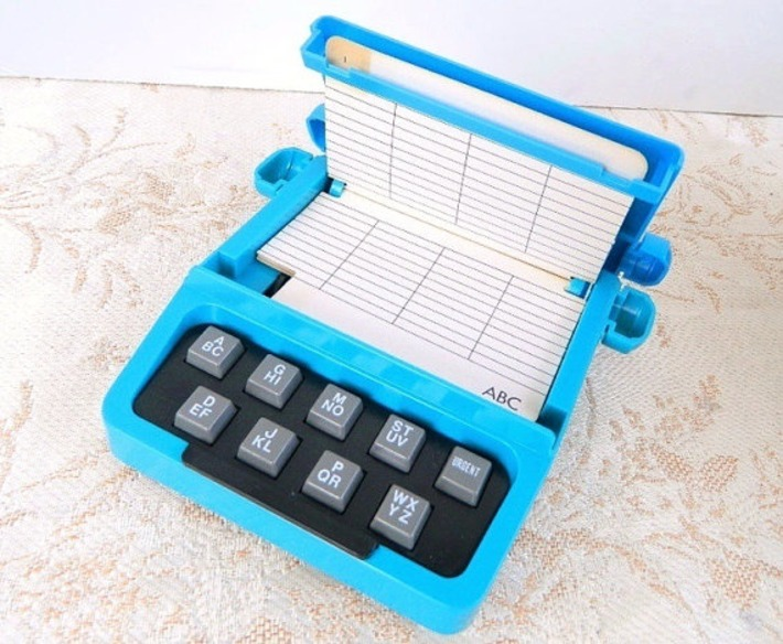 Vintage Blue Plastic Phonedex Typewriter Telephone Index - Rolodex - With Original Box - Never Used | Kitsch | Scoop.it