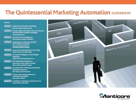 Quintessential Marketing Automation Guidebook White Paper - Manticore  | #TheMarketingAutomationAlert | Small Business Marketing | Scoop.it