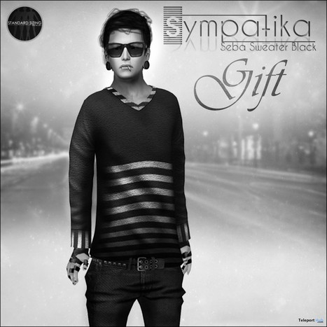Seba Sweater Black for Men Group Gift by Sympatika | Teleport Hub - Second Life Freebies | Second Life Freebies | Scoop.it