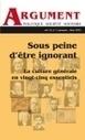 Argument. Vol. 15, n°1, automne-hiver 2012 | À partir de la littérature | Scoop.it