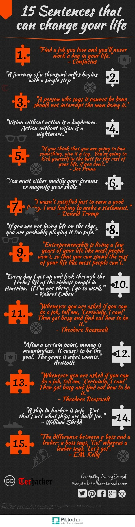 15 Sentences That Can Change Your Life [Infographics] | infographics | Scoop.it