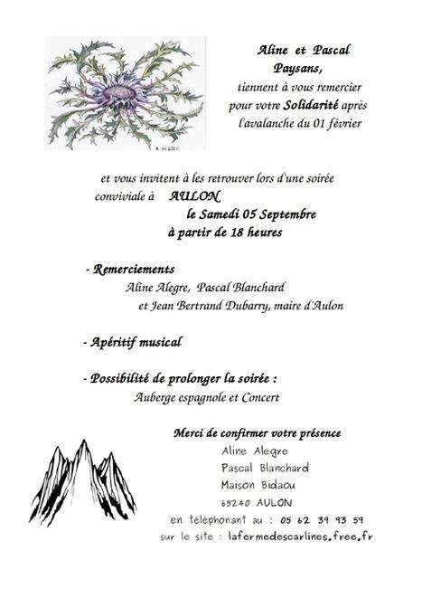 Aline et Pascal vous invitent à Aulon le 5 septembre | Vallée d'Aure - Pyrénées | Scoop.it