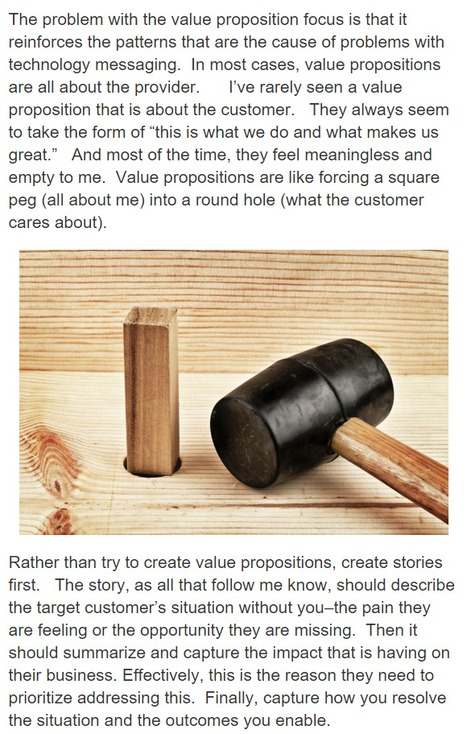 The problem with value propositions - Gartner | All about Visualization & Storytelling | Scoop.it