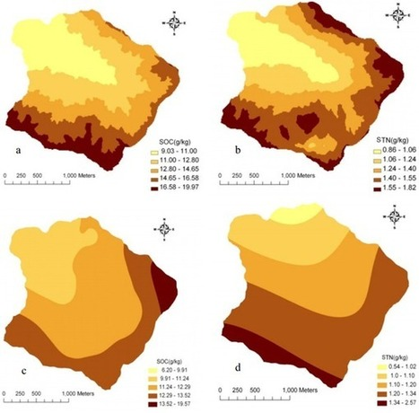 Spatial Distribution of Soil Organic Carbon and Total Nitrogen Based on GIS and Geostatistics in a Small Watershed in a Hilly Area of Northern China | R and Geostatistics | Scoop.it