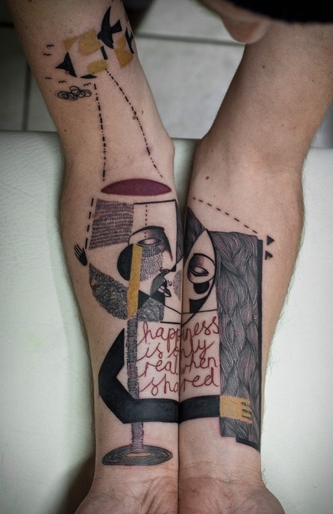 Artists Blend Surreal Portraits and Cubism to Create Uniquely Illustrated Tattoos | Le It e Amo ✪ | Scoop.it