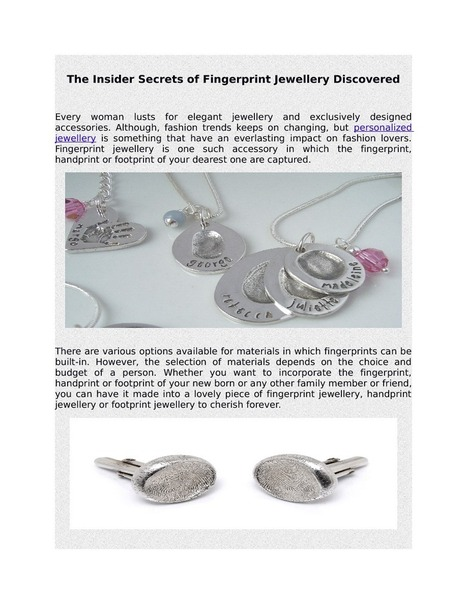 How to buy fingerprint jewellery in affordable rates | Fashionable Fingerprint Jewellery | Scoop.it