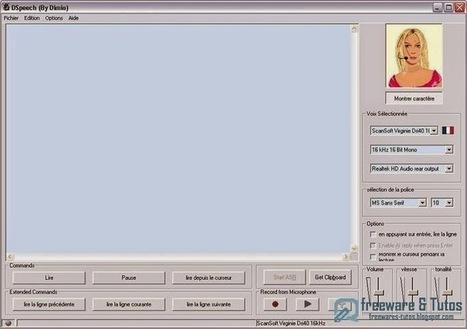 DSpeech : un logiciel de syntèse vocale pour lire et enregistrer les fichiers texte | E-apprentissage | Scoop.it