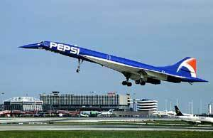"""CONCORDE. F-BTSD with the """"Pepsi"""" livery (1996) 