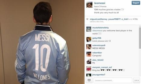 Messi alcanza los 10 millones de fans en Instagram - La Jugada Financiera | Seo, Social Media Marketing | Scoop.it
