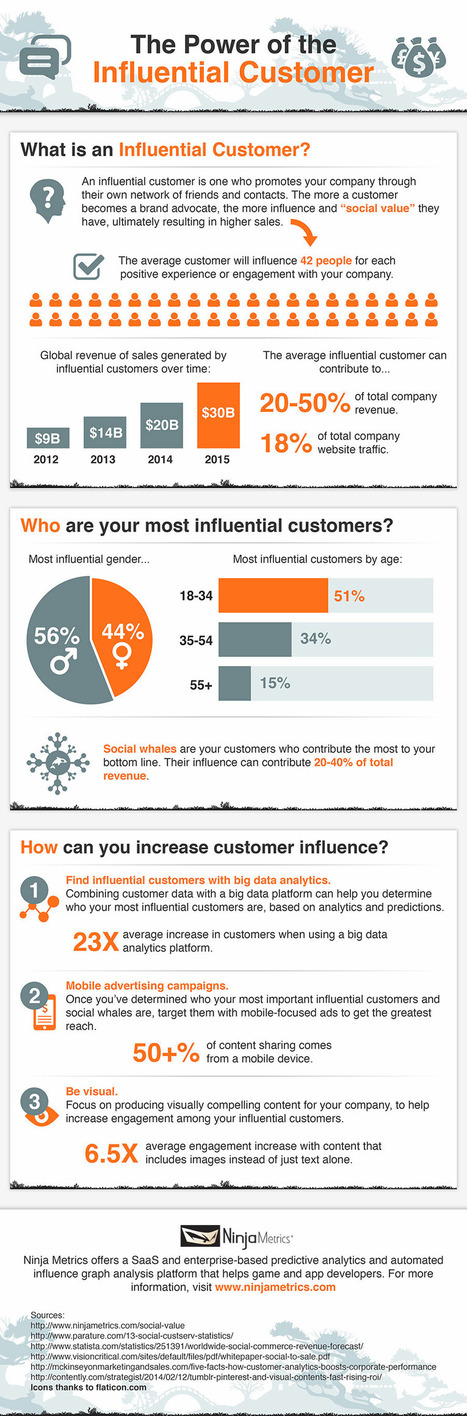 Leveraging Influential Customers: Your Most Important Online Marketing #Infographic | Curation Revolution | Scoop.it