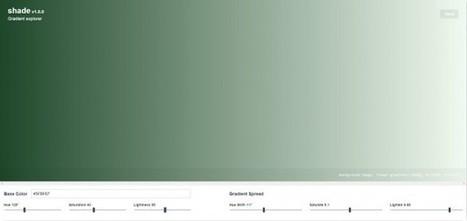 Shade, una aplicación web para quien usa degradados en el CSS   DIY & Crafts   Scoop.it