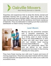 Moving Services In Oakville | Local ON Movers | Scoop.it