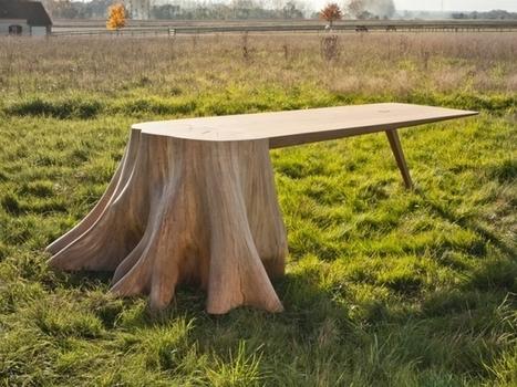 Insolite : Une table qui prend racine | L'Etablisienne, un atelier pour créer, fabriquer, rénover, personnaliser... | Scoop.it