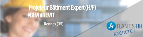 Projeteur Bâtiment Expert (H/F) #BIM #REVIT | Emploi #Construction #Ingenieur | Scoop.it