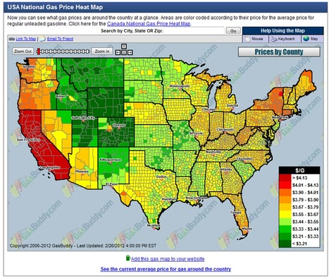 USA National Gas Price Map | Geography Education | Scoop.it