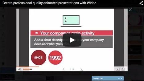 Free Technology for Teachers: Create Animated Videos and Presentations at the Same Time on Wideo * by Richard Byrne | iEduc | Scoop.it