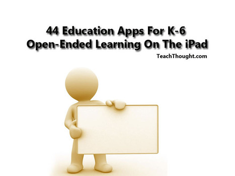 44 Education Apps For K-6 Open-Ended Learning On The iPad | TeachThought | Web 2.0 for Education | Scoop.it