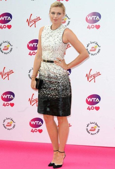 Maria Sharapova in Burberry Prorsum: Pre-Wimbledon Party | Celebrity Fashion News | Scoop.it