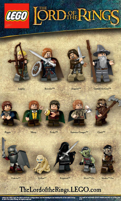 LEGO Releases Official LOTR Minifig Images, LEGO Gollum is Precious | All Geeks | Scoop.it