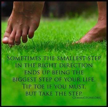 Begin with small steps | Inspirations | Scoop.it