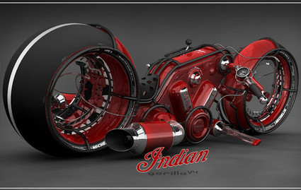 Future Transportation - Indian Gorilla V4 Motorcycle By Vasilatos Ianis | Adour Auto 64 | Scoop.it