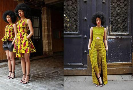Natacha Baco et sa collection en wax, un superbe tissu bariolé - madmoiZelle.com | Couture | Scoop.it