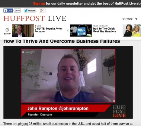 How To Thrive And Overcome Business Failures - Meet John Rampton - Entrepreneur, Investor and Connector | Grow hack | Scoop.it
