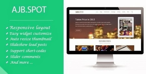 Ajbspot Responsive Blogger Template | free template from themforest | Scoop.it
