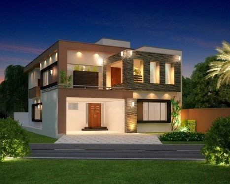 Modern BOX SHAPED Contemporary Elevation with WALL CLADDING | Innovative Architecture and Façade design | Scoop.it