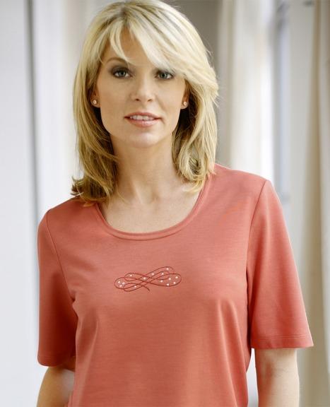 T-shirt à manches courtes : corail, lavande, écru  | AtelierGS | Les offres spéciales AtelierGS | Scoop.it