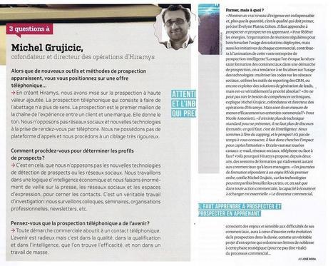 2016 : Et si on prospectait autrement ? (Source : ActionCo Magazine Avril-Mai 2016 - Extrait) | Prospection BtoB et Business Développement | Scoop.it