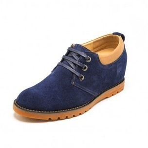 Comfortable Blue Cow Leather Elevator Casual Shoes Increase Height 6 cm / 2.36 inch shoes on sale at topoutshoes.com | Elevator Casual shoes men height increasing Taller | Scoop.it