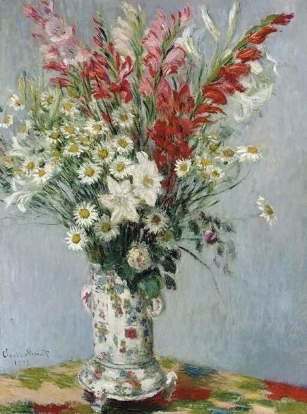 Monet Bouquet de glaieuls, lis et marguerites (1878) | Impressionnisme | Scoop.it