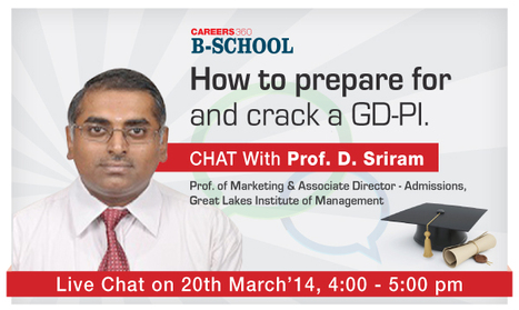 Chat with Prof. D. Sriram Prof. of Marketing & Associate Director - Admissions, Great Lakes Institute of Management | Marketing Tips | Scoop.it