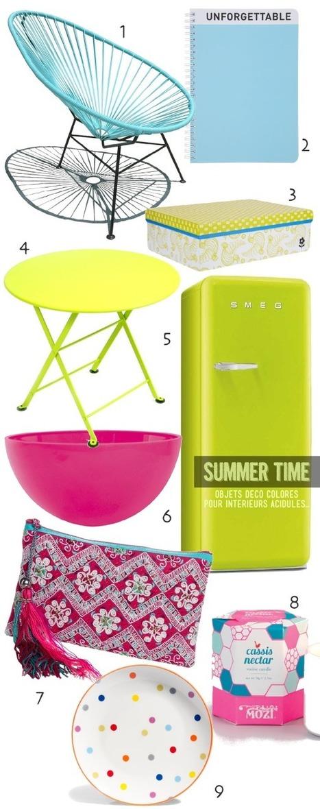 9 objets déco colorés pour une déco acidulée pour l'été | décoration & déco | Scoop.it