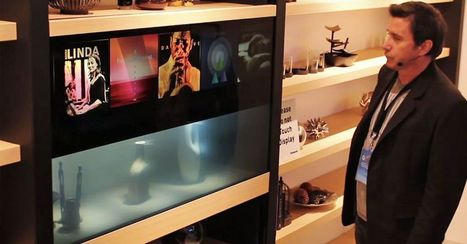 Panasonic's transparent TV disappears with a wave of your hand   Japanese Science & Technology News   Scoop.it