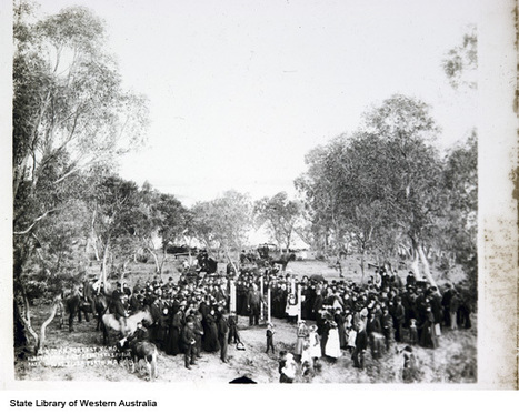 Sir John Forrest planting the first tree in the park which was soon to be called Kings Park. 1895 | Kings Park History | Scoop.it