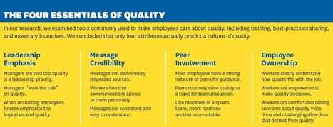 Creating a Culture of Quality: Financial incentives don't reduce errors. Employees must be passionate about eliminating mistakes.   Quality and Change   Scoop.it