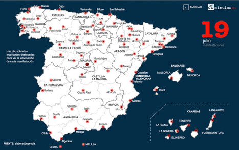 Manifestaciones del 19 J contra los recortes - Gráficos en 20minutos.es | Mouvement. | Scoop.it
