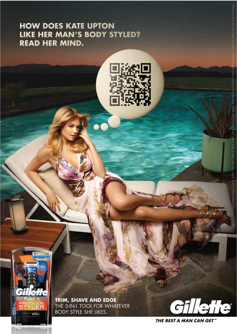 Gillette Promotes a New Shaver Using QR Codes | creative eggs | Scoop.it