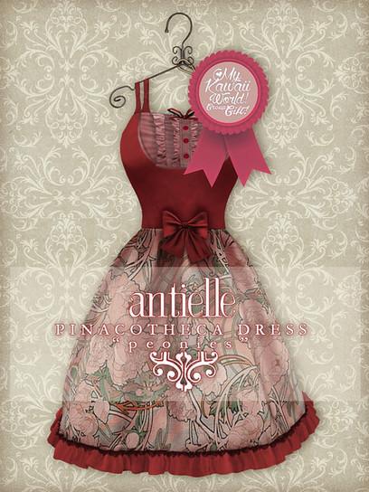 Group Gift ~ Pinacotheca Dress ~ Peonies | My Kawaii World in SL | Scoop.it
